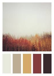 Color Scheme - Bedroom - Dark Brown, Deep Red, Gold, Tan and Warm Grey