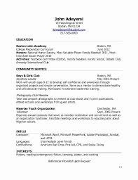 Nhs Resume Examples Lovely National Honor Society Resume Sample Recent High