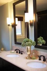 best bathroom mirror lighting. Best Bathroom Mirror Lights Black Wooden Frame Vertical With Modern Tube Wall Over Cream Double Ogee Lighting S
