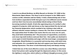 blood brothers review gcse drama marked by teachers com document image preview