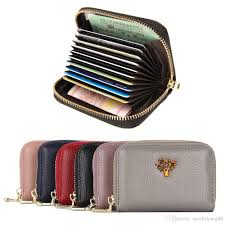 women s credit card case wallet zipper card holder purse with rfid blocking small accordion wallet credit card wallet leather credit card holder women s