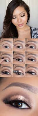 makeup tips for asian women rose gold smokey eye tutorial for asian women simple