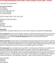 How To Create A Cover Letter Classy Full Charge Bookkeeper Cover Letter Httpwwwresumecareer