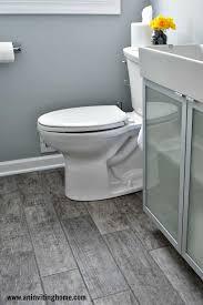 wood tile flooring in bathroom. Remodelaholic Modern Bathroom Update · Tiles Marvellous Blue Floor Wood Tile Flooring In