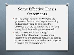 writing the argument analysis essay ppt video online 6 some effective thesis statements