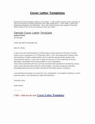 Resume Cover Letter Examples 2018 Resume Templates Design