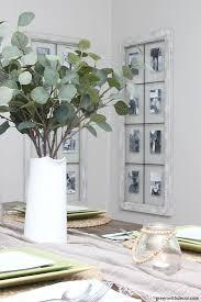 diy wall decor windows turned picture frames near faux eucalyptus