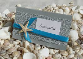 wedding invitation ideas attractive unique beach wedding Beach Themed Wedding Place Cards charming unique beach wedding invitations ideas combined with cute white starfish and lovely blue ribbon beach themed place cards for wedding