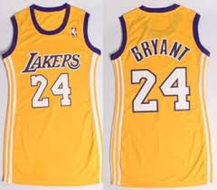 Kobe Bryant Nba Angeles Lakers Dress Los Stitched 24 Jersey Women Yellow