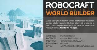 robocraft jobs at jam world builder job