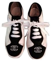 chanel tennis shoes. chanel black and white athletic tennis shoes n
