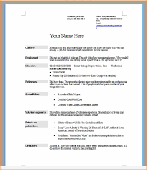How To Do A Resume For A Job