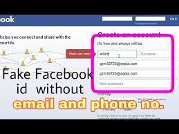 Email Number Fake Phone Id To And A Youtube How Facebook Without Make -