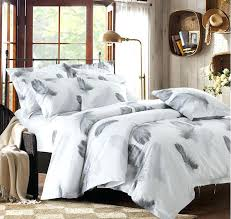 white and grey duvet covers black bedding set feather cover queen king size full twin double