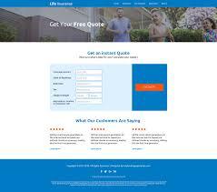 affordable life insurance website design template