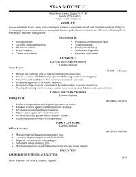 ... It Sample For Your Astonishing Team Lead Resume CV Example For  Management LiveCareer ...