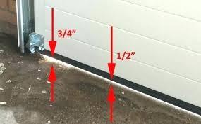 garage door seal for uneven concrete fantastic bottom floor with decorating ideas 1