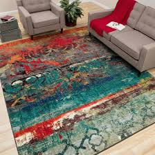 bright multi colored area rugs contemporary rug on for perfect with 8