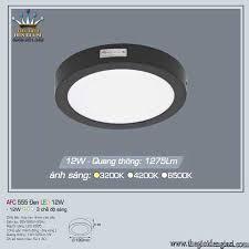 Đèn Ốp Nổi Led Anfaco AFC555 Đen 12W ɸ 180