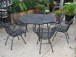 Amazing Black Iron Dining Chairs And Matching Table By Woodard  Furniture For Patio Ideas Jonesclintoncom