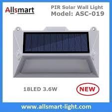 china solar wall lights 18 led solar fence lights solar garden lights decorative double pir motion