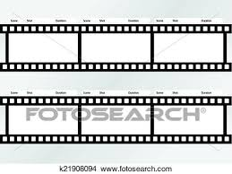 Professional Of Storyboard Film Strip Template Clipart