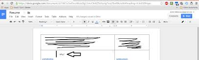Resume Format Google Docs Extraordinary Removing Table Cell Padding In Google Docs Sorry Could Not Find