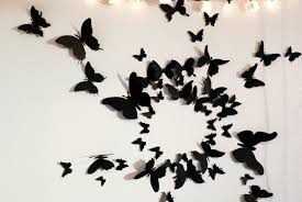 3d Butterfly Wall Decor 3d Butterfly Wall Decor Girly Butterfly Decorations Ideas For
