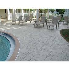 stamped concrete flooring thickness