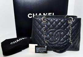 Thread Chanel Black Caviar Quilted Leather Grand Shopper Tote ... & Thread Chanel Black Caviar Quilted Leather Grand Shopper Tote Handbag Adamdwight.com