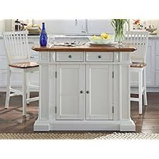 Amazoncom Home Styles 5002 948 Kitchen Island and Stools White