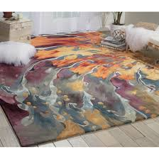 beauty look multicolor area rugs for any room circo color block area rug with neon
