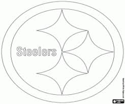 Small Picture Logo of Pittsburgh Steelers coloring page printable game
