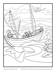 Bible Coloring Pages Sunday School Paul And The Shipwreck Page