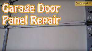 diy how to repair or replace a single garage door panel damaged garage door panel