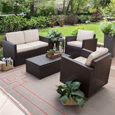 c coast berea wicker 4 piece conversation set with storage