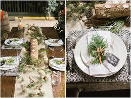 christmas wedding place settings