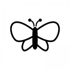 蝶々のシルエット03 無料のaipng白黒シルエットイラスト