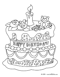 Small Picture Birthday cake coloring pages Hellokidscom