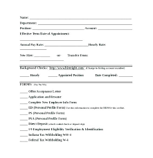 Employee Hire Forms New Hire Orientation Checklist Template Hiring Employment
