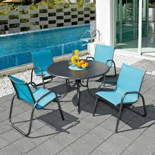 image of patio chair replacement slings blue