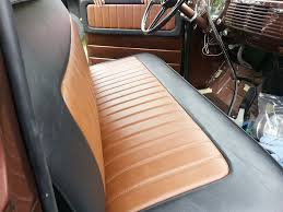 simple two tone bench seat truck
