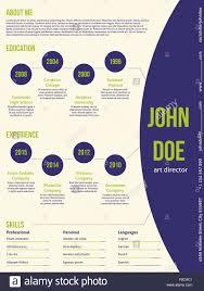 Modern Resume Cv Curriculum Vitae Template Design With Contrast