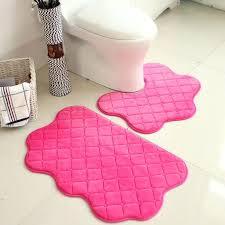 pink and black zebra bathroom rugs bath sets font b set color new soft pedestal