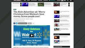 Walmart Alvin Tx Paper Mistakenly Prints Walmart Ad Reading Save Money Screw People