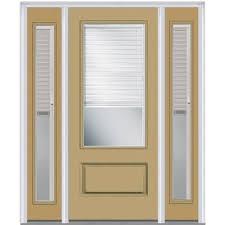 1 4 Light Door No Caming 1 4 Lite Light Brown Doors With Glass