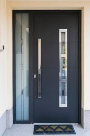 Modern Single Front Door Designs Black Ideas O With Creativity Design