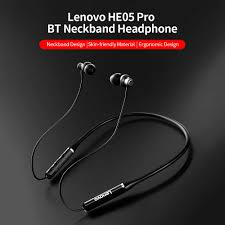 <b>Lenovo HE05 Pro Wireless</b> Earphone BT5.0 In ear Earphone IPX5 ...