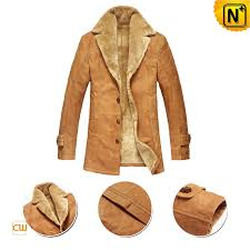 mens fur leather trench coat cwmalls com