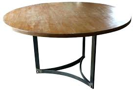 round wood top and metal dining table legs in rustic snap on tool box
